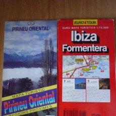 Mapas contemporáneos: LOTE DE 2 MAPAS DE CARRETERAS, PIRINEU ORIENTAL Y IBIZA.. Lote 14581941