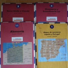 Mapas contemporáneos: LOTE DE 4 MAPAS DE CARRETERAS. Lote 14582041