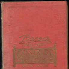 Mapas contemporáneos: LONDON AND SUBURBS WITH GUIDE. Lote 14880932