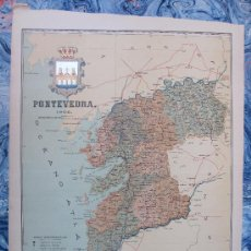 Mapas contemporáneos: PONTEVEDRA: MAPA DE LA PROVINCIA. BENITO CHIAS, 1902. 45 X 35 CM. APROX. Lote 15434070