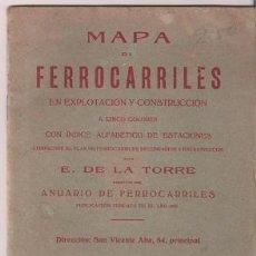 Mapas contemporáneos: MAPA FERROCARRILES 1925 . Lote 25084991
