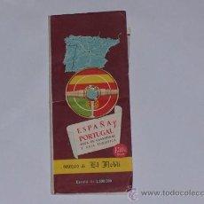 Mapas contemporáneos: MAPA PLEGABLE ESCALA 1:2.500.000 DE ESPAÑA Y PORTUGAL 1961 .. Lote 28649990