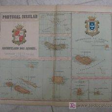 Mapas contemporáneos: MAPA DE ISLAS PORTUGAL . 1902. LITOGRAFIA. EDICION ALBERTO MARTIN. Lote 15788507