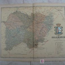 Mapas contemporáneos: MAPA DE SALAMANCA . 1902. LITOGRAFIA. EDICION ALBERTO MARTIN. Lote 15788552