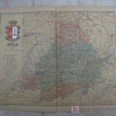 Mapas contemporáneos: MAPA DE AVILA . 1903. LITOGRAFIA. EDICION ALBERTO MARTIN. Lote 15788641
