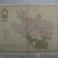 Mapas contemporáneos: MAPA DE ALAVA . 1901. LITOGRAFIA. EDICION ALBERTO MARTIN. Lote 15788671