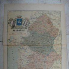 Mapas contemporáneos: MAPA DE ALEMTEJO (PORTUGAL). 1903. LITOGRAFIA. EDICION ALBERTO MARTIN. Lote 15788733