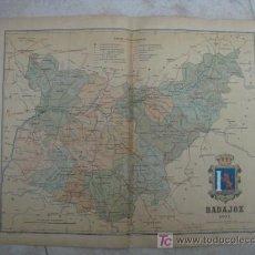 Mapas contemporáneos: MAPA DE BADAJOZ. 1901. LITOGRAFIA. EDICION ALBERTO MARTIN. Lote 15788779