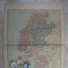 Mapas contemporáneos: MAPA DE EXTREMADURA. 1902. LITOGRAFIA. EDICION ALBERTO MARTIN. Lote 15788923