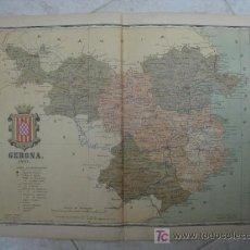 Mapas contemporáneos: MAPA DE GERONA. 1901. LITOGRAFIA. EDICION ALBERTO MARTIN. Lote 15788986