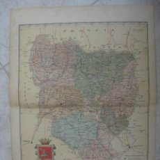 Mapas contemporáneos: MAPA DE HUESCA. 1901. LITOGRAFIA. EDICION ALBERTO MARTIN. Lote 15789027