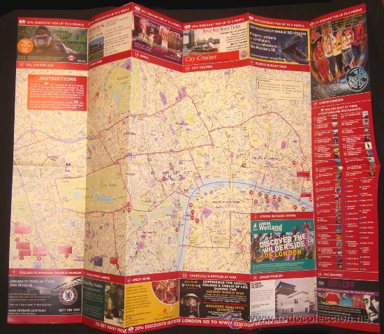 PLANO DE LONDRES ---- MAPA URBANO CIUDAD LONDON MAP --- REINO UNIDO --- ESTÁ NUEVO (Coleccionismo - Mapas - Mapas actuales (desde siglo XIX))