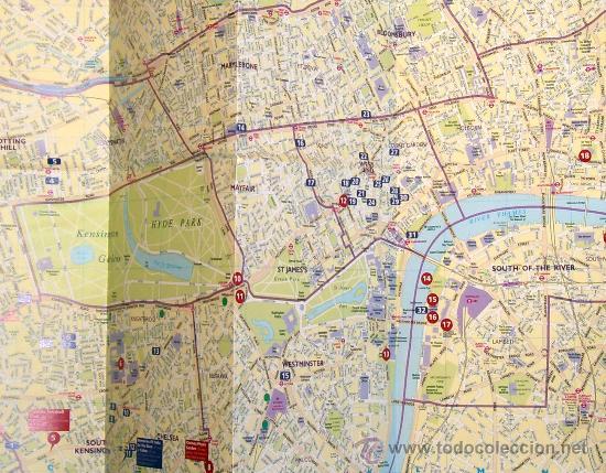 Mapas contemporáneos: PLANO DE LONDRES ---- MAPA URBANO CIUDAD LONDON MAP --- Reino Unido --- ESTÁ NUEVO - Foto 3 - 27835215