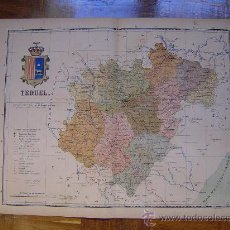 Mapas contemporáneos: 1910 MAPA DE LA PROVINCIA DE TERUEL DE BENITO CHIAS. Lote 26535384