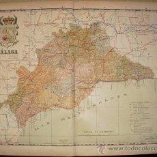 Mapas contemporáneos: 191? MAPA DE LA PROVINCIA DE MALAGA BENITO CHIAS Y CARBO. Lote 155879414