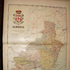 Mapas contemporáneos: 191? MAPA DE LA PROVINCIA DE ALMERIA BENITO CHIAS Y CARBO. Lote 27449072