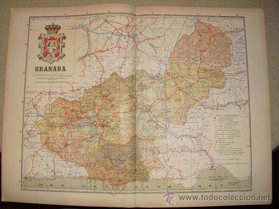 191? MAPA DE LA PROVINCIA DE GRANADA BENITO CHIAS Y CARBO (Coleccionismo - Mapas - Mapas actuales (desde siglo XIX))