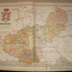 Mapas contemporáneos: 191? MAPA DE LA PROVINCIA DE GRANADA BENITO CHIAS Y CARBO. Lote 21894410