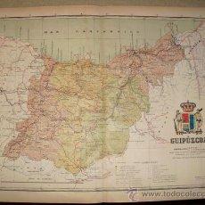 Mapas contemporáneos: 191? MAPA DE LA PROVINCIA DE GUIPUZCOA BENITO CHIAS Y CARBO. Lote 20965853