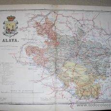 Mapas contemporáneos: 191? MAPA DE LA PROVINCIA DE ALAVA BENITO CHIAS Y CARBO. Lote 22437289