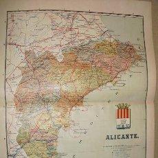 Mapas contemporáneos: 191? MAPA DE LA PROVINCIA DE ALICANTE BENITO CHIAS Y CARBO. Lote 22437290