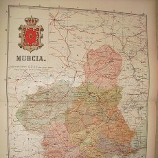 Mapas contemporáneos: 191? MAPA DE LA PROVINCIA DE MURCIA BENITO CHIAS Y CARBO. Lote 22804226