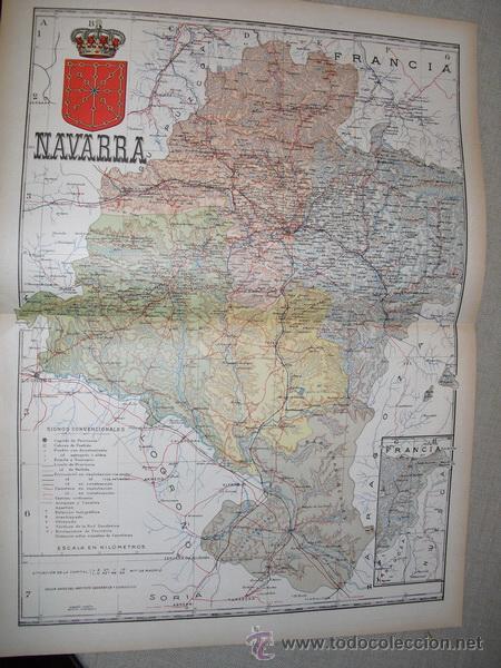 191? MAPA DE LA PROVINCIA DE NAVARRA BENITO CHIAS Y CARBO (Coleccionismo - Mapas - Mapas actuales (desde siglo XIX))