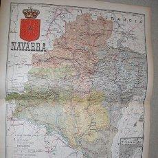Mapas contemporáneos: 191? MAPA DE LA PROVINCIA DE NAVARRA BENITO CHIAS Y CARBO. Lote 54443328