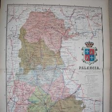 Mapas contemporáneos: 191? MAPA DE LA PROVINCIA DE PALENCIA BENITO CHIAS Y CARBO. Lote 20965856