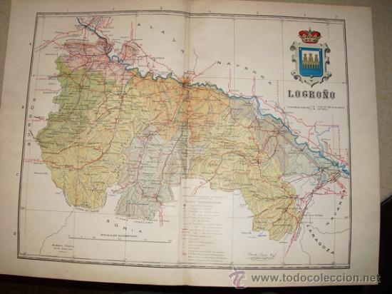 191? MAPA DE LA PROVINCIA DE LOGROÑO BENITO CHIAS Y CARBO (Coleccionismo - Mapas - Mapas actuales (desde siglo XIX))