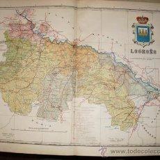 Mapas contemporáneos: 191? MAPA DE LA PROVINCIA DE LOGROÑO BENITO CHIAS Y CARBO. Lote 20875688