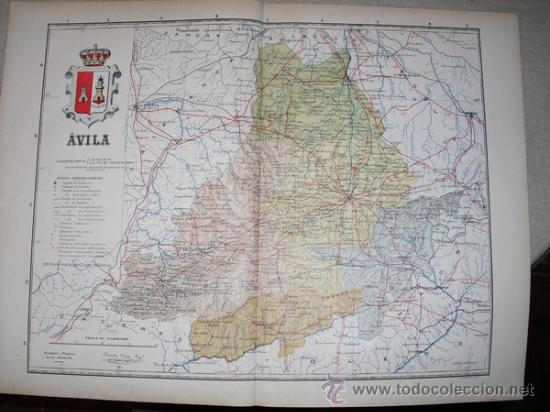 191? MAPA DE LA PROVINCIA DE AVILA BENITO CHIAS Y CARBO (Coleccionismo - Mapas - Mapas actuales (desde siglo XIX))