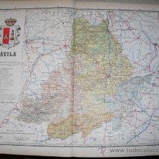 Mapas contemporáneos: 191? MAPA DE LA PROVINCIA DE AVILA BENITO CHIAS Y CARBO. Lote 20887311
