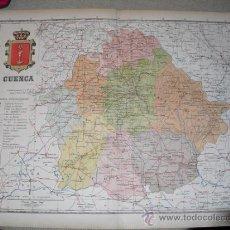 Mapas contemporáneos: 191? MAPA DE LA PROVINCIA DE CUENCA BENITO CHIAS Y CARBO. Lote 21880100
