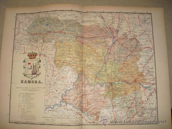 191? MAPA DE LA PROVINCIA DE ZAMORA BENITO CHIAS Y CARBO (Coleccionismo - Mapas - Mapas actuales (desde siglo XIX))