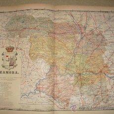 Mapas contemporáneos: 191? MAPA DE LA PROVINCIA DE ZAMORA BENITO CHIAS Y CARBO. Lote 22991378