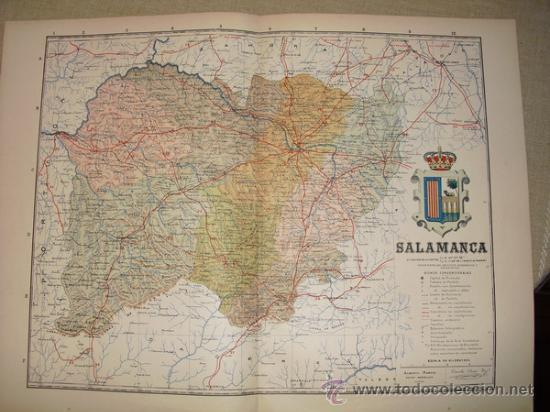 191? MAPA DE LA PROVINCIA DE SALAMANCA BENITO CHIAS Y CARBO (Coleccionismo - Mapas - Mapas actuales (desde siglo XIX))