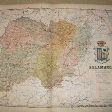 Mapas contemporáneos: 191? MAPA DE LA PROVINCIA DE SALAMANCA BENITO CHIAS Y CARBO. Lote 27640044