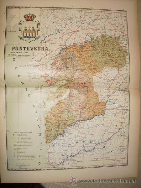 191? MAPA DELA PROVINCIA DE PONTEVEDRA BENITO CHIAS Y CARBO (Coleccionismo - Mapas - Mapas actuales (desde siglo XIX))