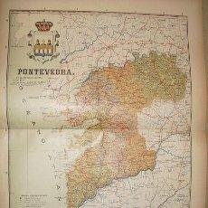 Mapas contemporáneos: 191? MAPA DELA PROVINCIA DE PONTEVEDRA BENITO CHIAS Y CARBO. Lote 25332097