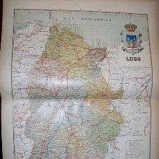 Mapas contemporáneos: 191? MAPA DE LA PROVINCIA DE LUGO BENITO CHIAS Y CARBO. Lote 23154827