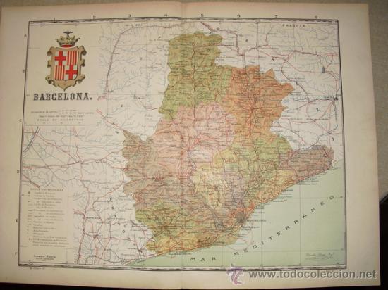 191? MAPA DE LA PROVINCIA DE BARCELONA BENITO CHIAS Y CARBO (Coleccionismo - Mapas - Mapas actuales (desde siglo XIX))