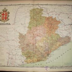 Mapas contemporáneos: 191? MAPA DE LA PROVINCIA DE BARCELONA BENITO CHIAS Y CARBO. Lote 22203393