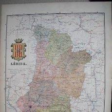 Mapas contemporáneos: 191? MAPA DE LA PROVINCIA DE LERIDA BENITO CHIAS Y CARBO. Lote 21845664
