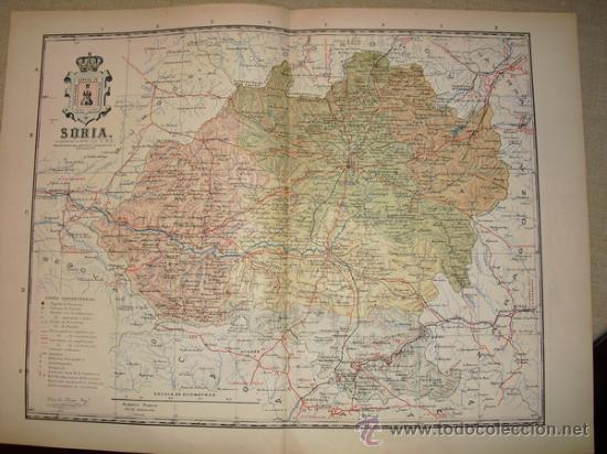 191? MAPA DE LA PROVINCIA DE SORIA BENITO CHIAS Y CARBO (Coleccionismo - Mapas - Mapas actuales (desde siglo XIX))