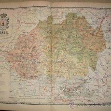 Mapas contemporáneos: 191? MAPA DE LA PROVINCIA DE SORIA BENITO CHIAS Y CARBO. Lote 188619237