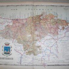 Mapas contemporáneos: 191? MAPA DE LA PROVINCIA DE SANTANDER BENITO CHIAS Y CARBO. Lote 27555054