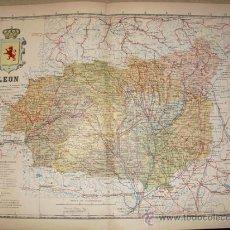 Mapas contemporáneos: 191? MAPA DE LA PROVINCIA DE LEON BENITO CHIAS Y CARBO. Lote 25987049