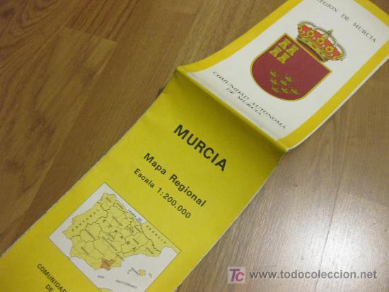 MAPA REGIONAL - INSTITUTO GEOGRAFICO NACIONAL - 1982 MURCIA (Coleccionismo - Mapas - Mapas actuales (desde siglo XIX))
