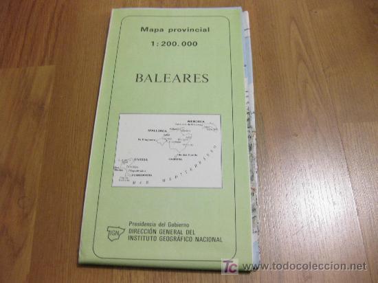 MAPA PROVINCIAL - INSTITUTO GEOGRAFICO NACIONAL - 1986 BALEARES (Coleccionismo - Mapas - Mapas actuales (desde siglo XIX))